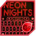 GO Keyboard Red Neon Theme icon