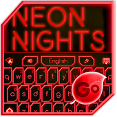 GO Keyboard Red Neon Theme