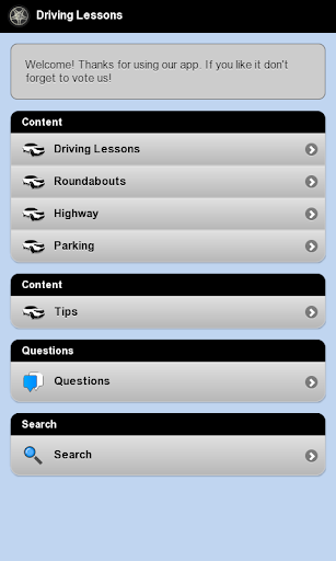 Driving Lessons Tests