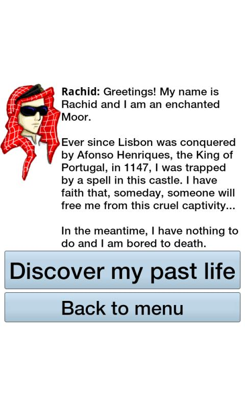 Past life analysis with Rachid- screenshot