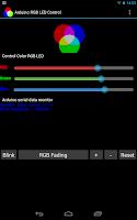 Screenshot of Arduino USB Control RGB LED