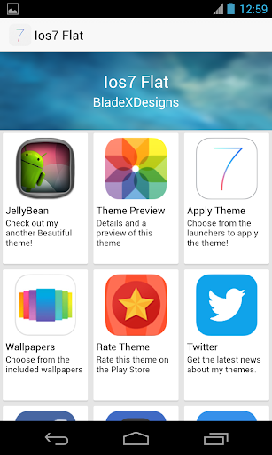 lines icon how to change in app drawer go launger