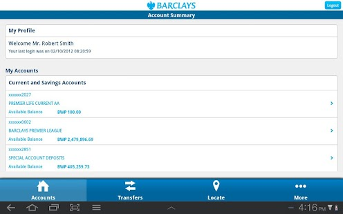 Barclays Botswana - screenshot thumbnail