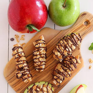 Chocolate-Peanut Butter Granola Apple Bites.