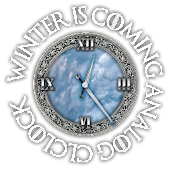 Game of Thrones Stark Clock