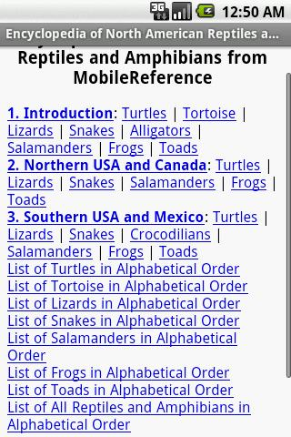 North American Reptiles - screenshot