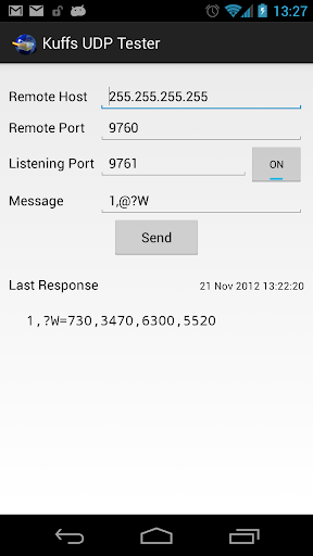 Kuffs UDP Tester