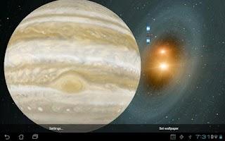 Screenshot of Space HD LiveWallPaper