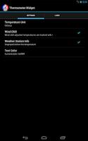 Screenshot of Thermometer Widget