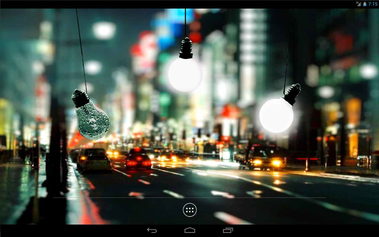 Bulbs In Rain LWP paid- screenshot