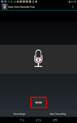 Easy Voice Recorder Free - screenshot