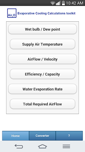 Evaporative Cooling Calculator