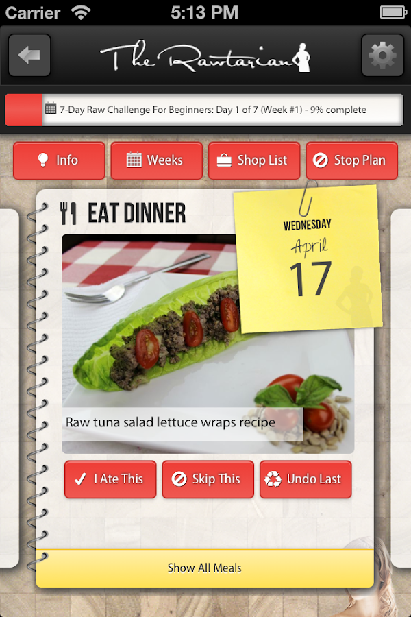 Rawtarian's Raw Meal Plans - screenshot