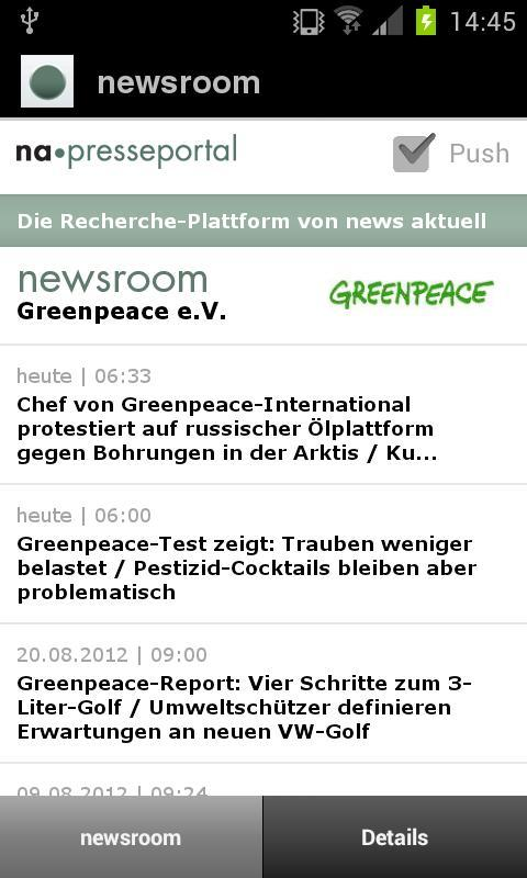 Presseportal - screenshot