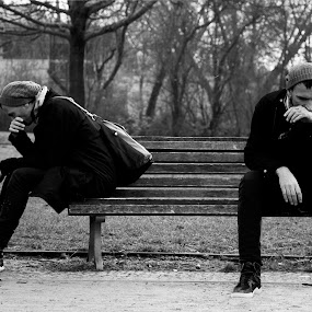 2 Egos by Georgios Kalogeropoulos - Black & White Portraits & People ( mens, man )