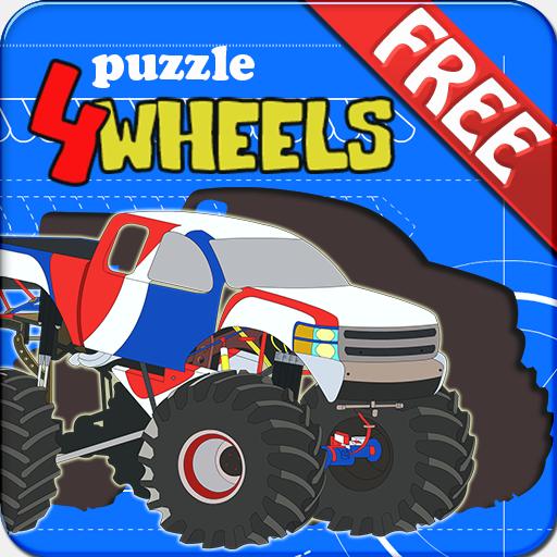 解谜のKids Puzzle - 4 Wheels LOGO-記事Game