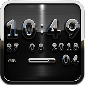 black deluxe clock widget
