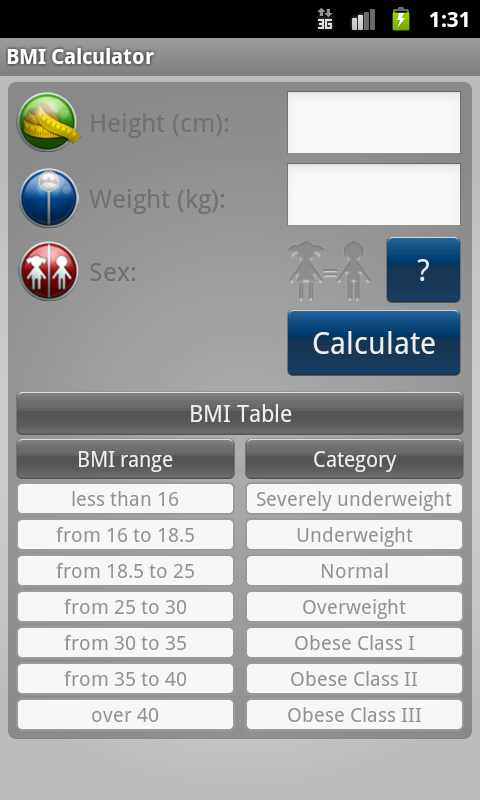 BMI Calculator - Weight Loss- screenshot