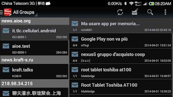 Screenshot of NewsGroup Reader