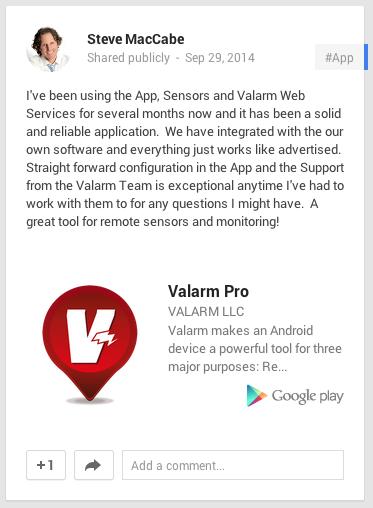 Valarm Pro