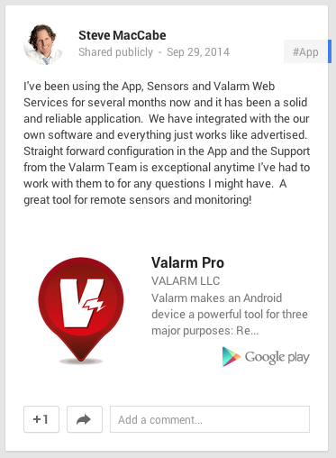 Valarm Pro - screenshot