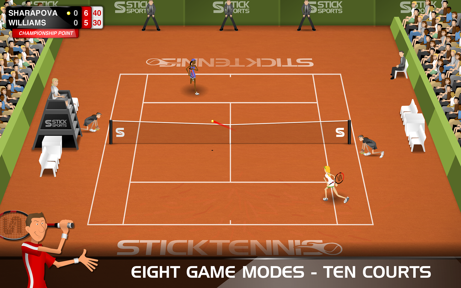 Stick Tennis screenshot #13