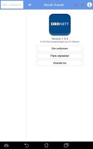 Ordnett - Fransk blå ordbok v1.0.9