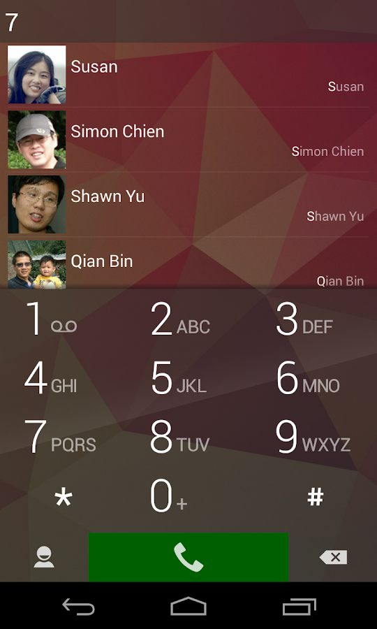 ExDialer - Dialer & Contacts- screenshot