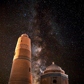 Minaret ! by Agha Ahmed - Buildings & Architecture Decaying & Abandoned ( stars, lighthouse, architecture, landscape, milky way )