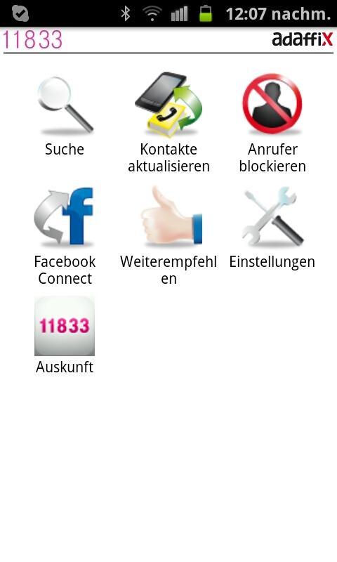 11833 Anruferkennung- screenshot