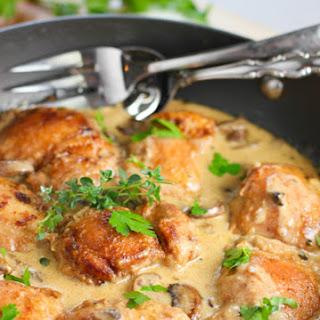 Creamy Chicken and Mushroom Skillet.