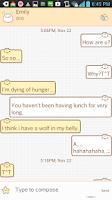 Screenshot of Yummy(Dumpling) go sms theme
