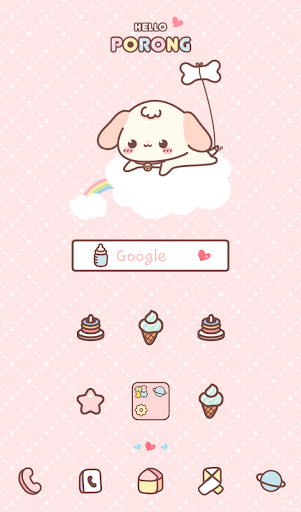 helloporong pink dodol theme