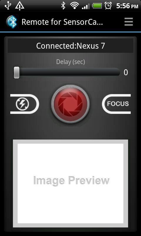 Remote for Sensor Camera - screenshot