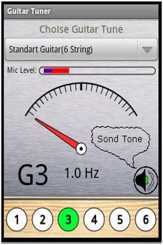 Настройка гитары на Андроид через микрофон скачать