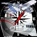 GPS Navigaton Speedometer TAN icon