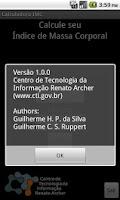 Screenshot of Calculadora IMC