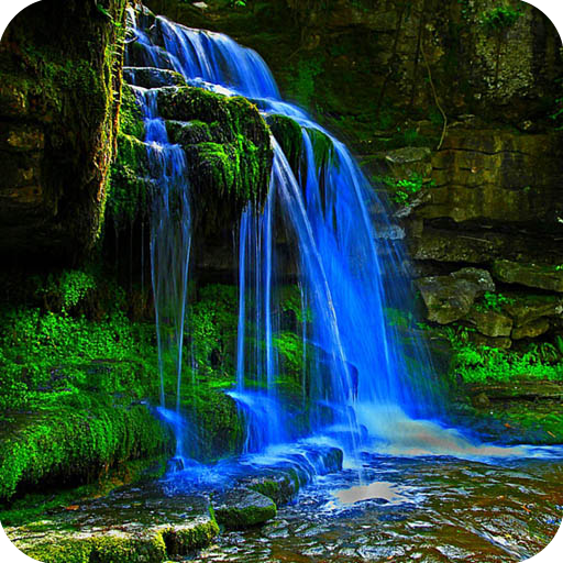 waterfall in 3d cube live wallpaper for android nature