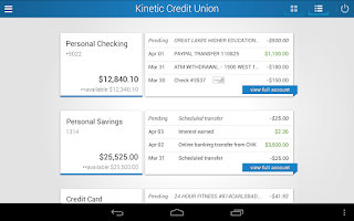 Screenshot of Kinetic Credit Union