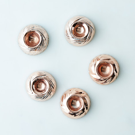 Vintage Copper Nests, Mid 19th Century (Set of 5)
