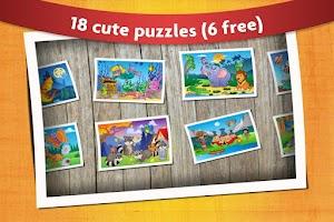 Screenshot of Kids Animals Jigsaw Puzzles