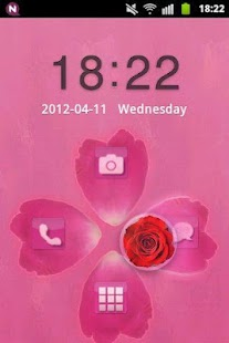 GO Locker Theme Pink Cute Rose - screenshot thumbnail