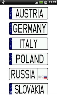 Vehicle registration plates - screenshot thumbnail