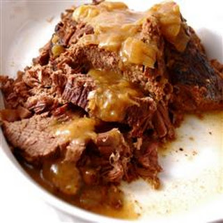 Bottom Round Roast with Onion Gravy Recipe