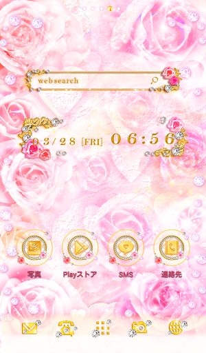Cute wallpaper★Rose Jewel