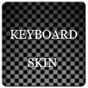 Grey Carbon Keyboard Skin logo