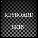 Grey Carbon Keyboard Skin logo