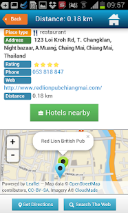 Chiang Mai Guide, Hotels, Map Mod