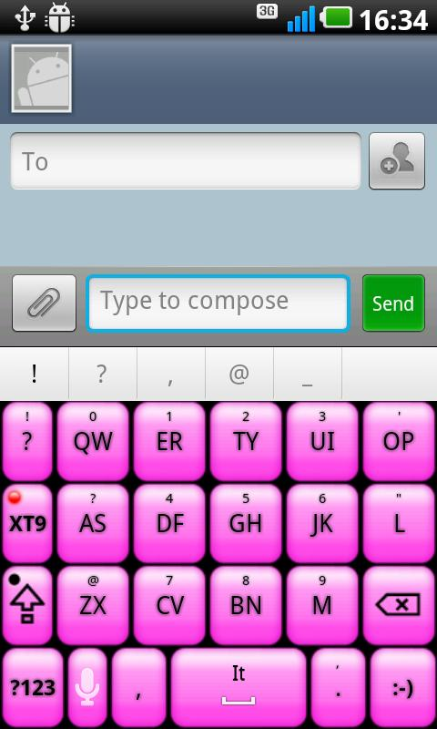 Pink Glow Better Keyboard Skin- screenshot