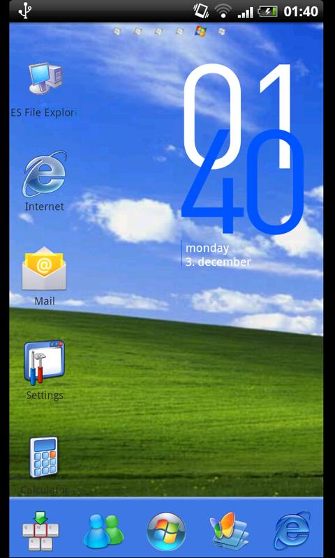 Go Launcher Ex Theme Windows - screenshot